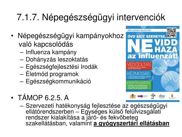 7.1.7. Népegészségügyi intervenciók