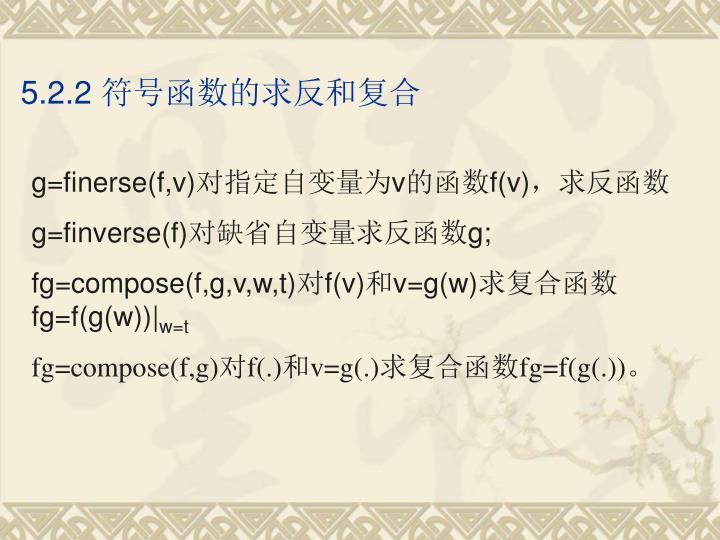 5.2.2 符号函数的求反和复合