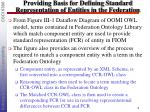 providing basis for defining standard representation of entities in the federation