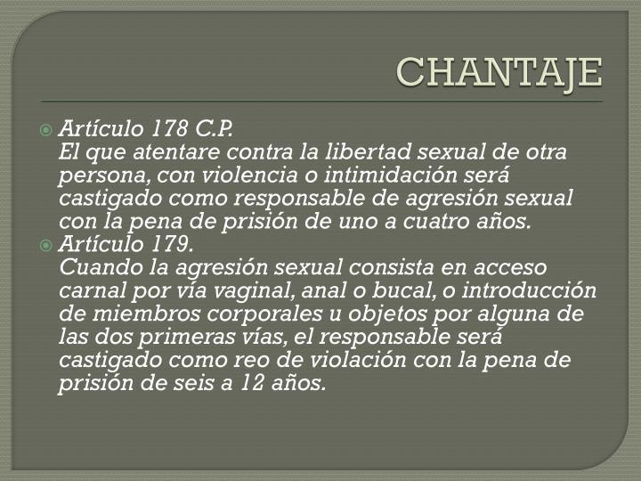 CHANTAJE