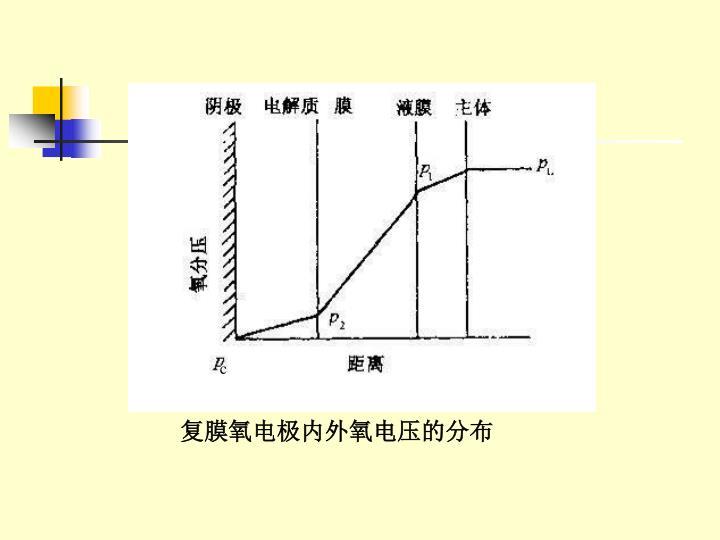 复膜氧电极内外氧电压的分布