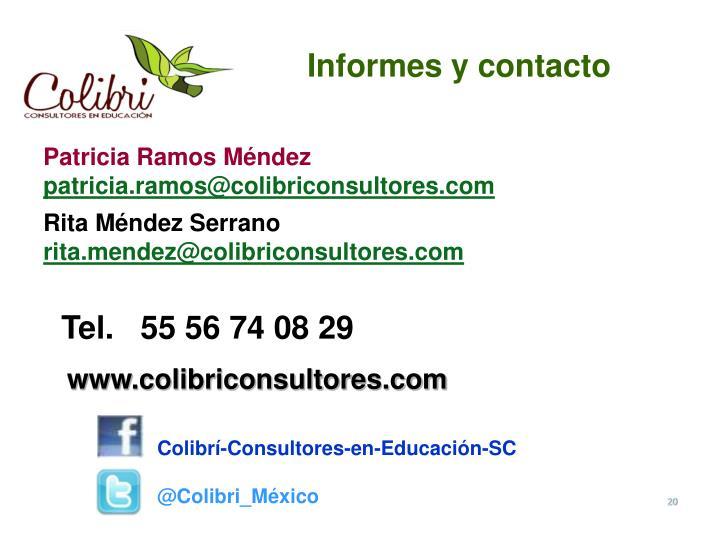 Informes y contacto