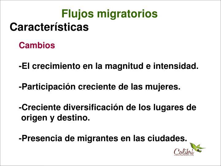 Flujos migratorios
