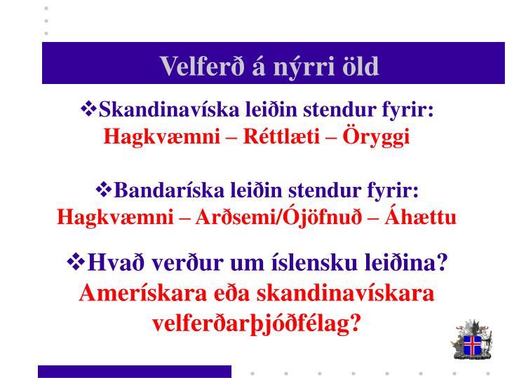 Velferð á nýrri öld