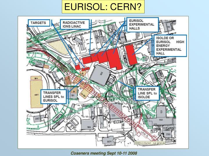 EURISOL: CERN?