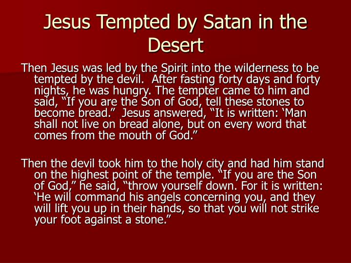 Jesus Tempted by Satan in the Desert