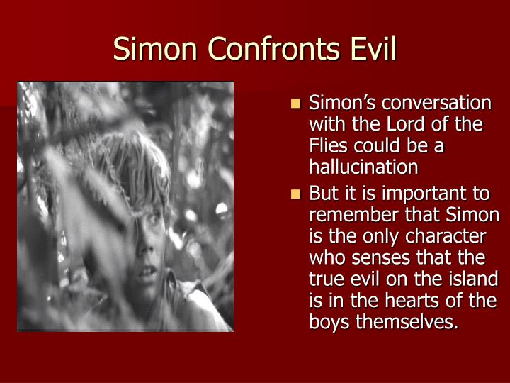 Simon's conversation with the Lord of the Flies could be a hallucination