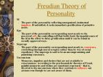 freudian theory of personality