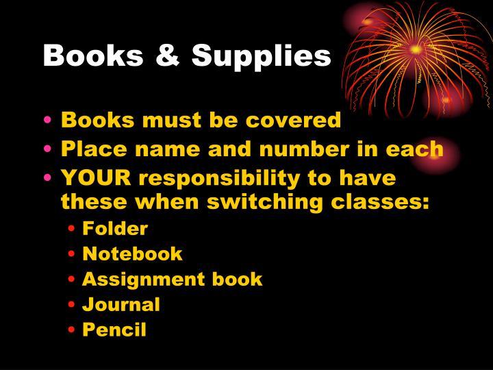 Books & Supplies