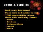 books supplies
