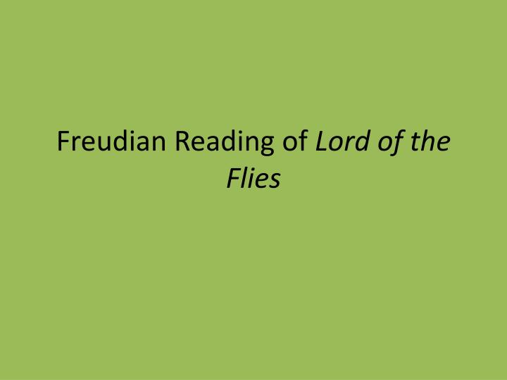 lord of the flies freudian essay