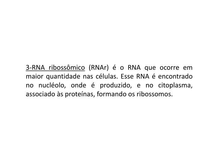 3-RNA ribossômico