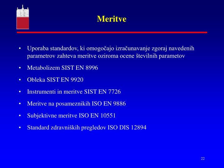 Meritve