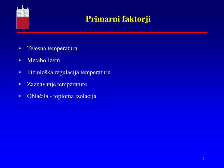 Primarni faktorji