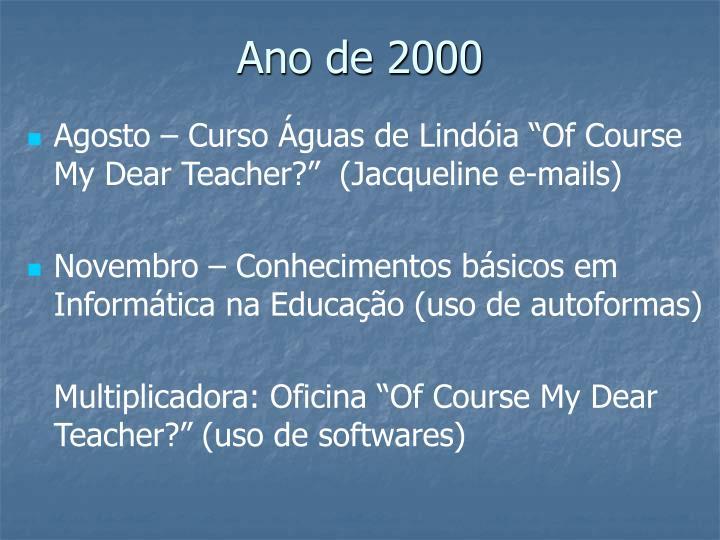 Ano de 2000