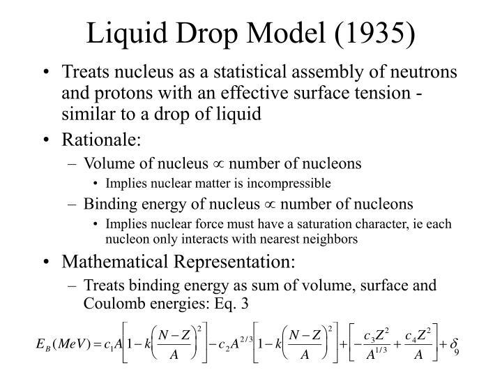 Liquid Drop Model (1935)