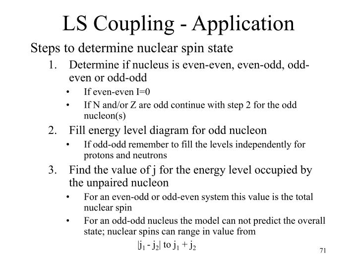LS Coupling - Application