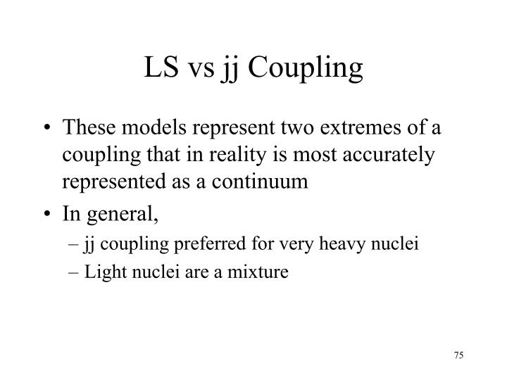LS vs jj Coupling