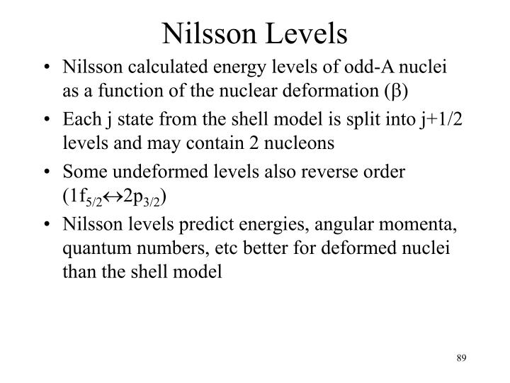 Nilsson Levels
