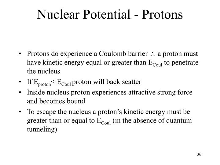 Nuclear Potential - Protons