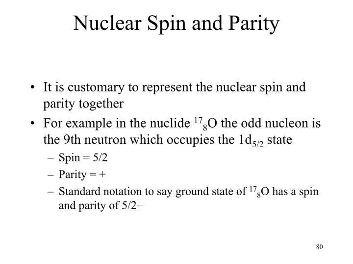 Nuclear Spin and Parity