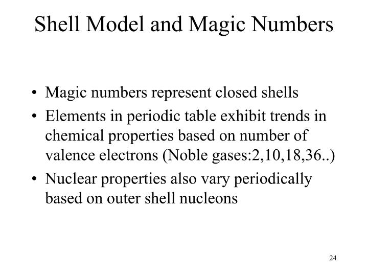 Shell Model and Magic Numbers