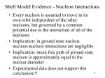 shell model evidence nucleon interactions