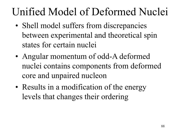 Unified Model of Deformed Nuclei
