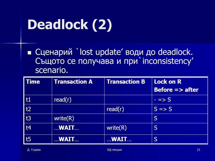 Deadlock (2)