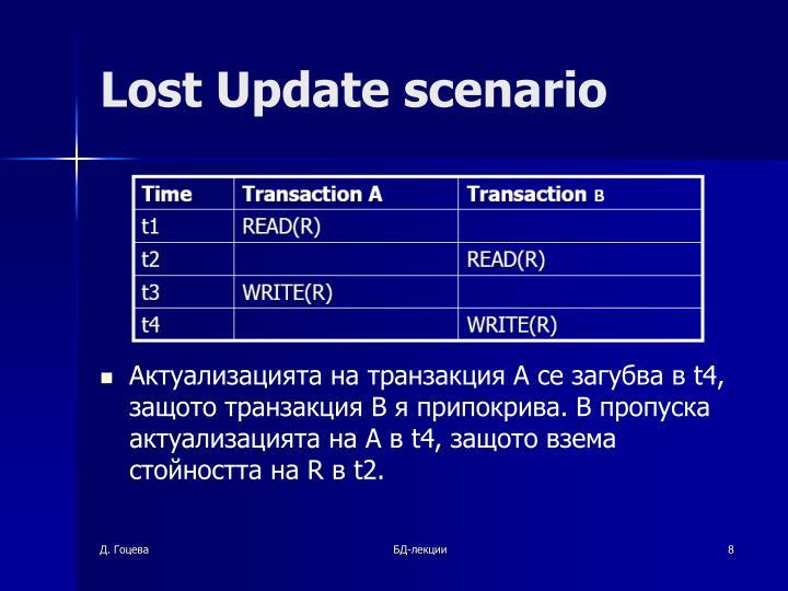 Lost Update scenario