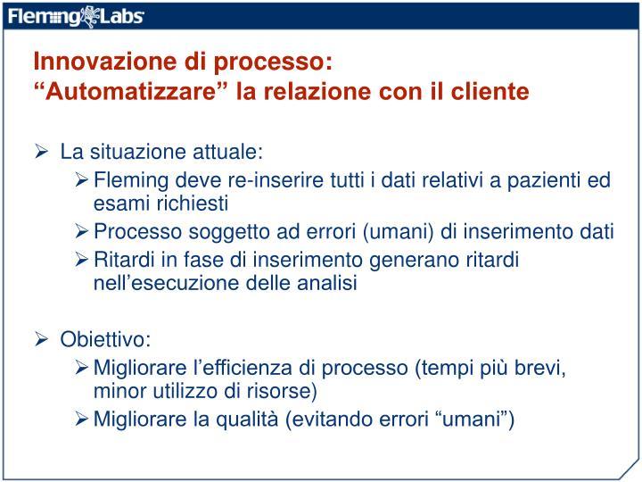 Innovazione di processo: