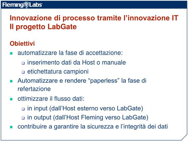 Innovazione di processo tramite l'innovazione IT