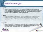 mathematics task types