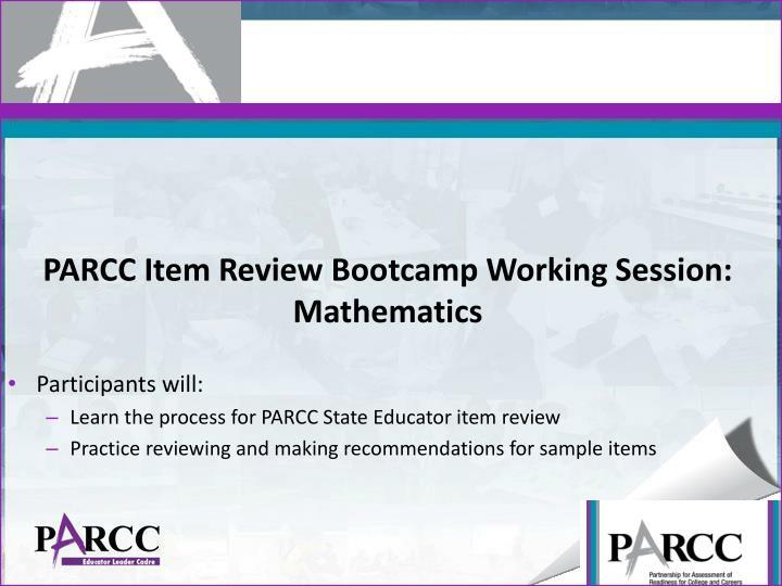 PARCC Item Review