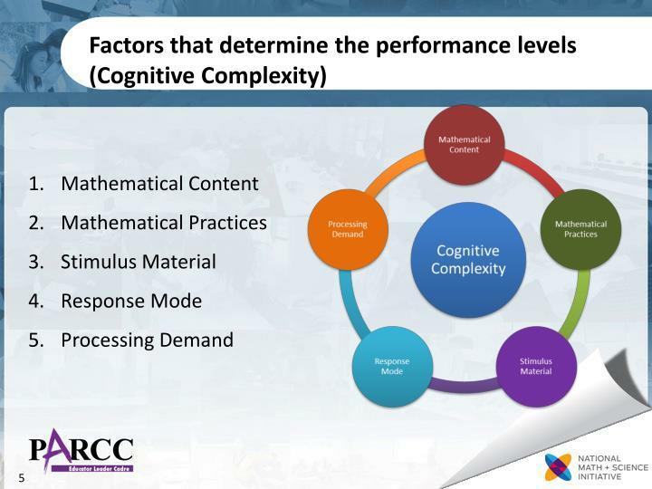 Factors that determine the performance levels (Cognitive Complexity)