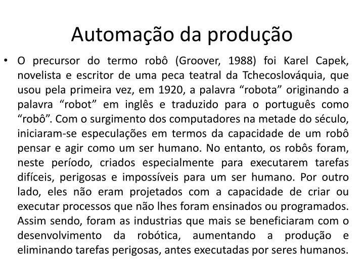 Automação da produção