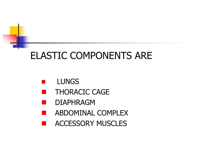 ELASTIC COMPONENTS ARE