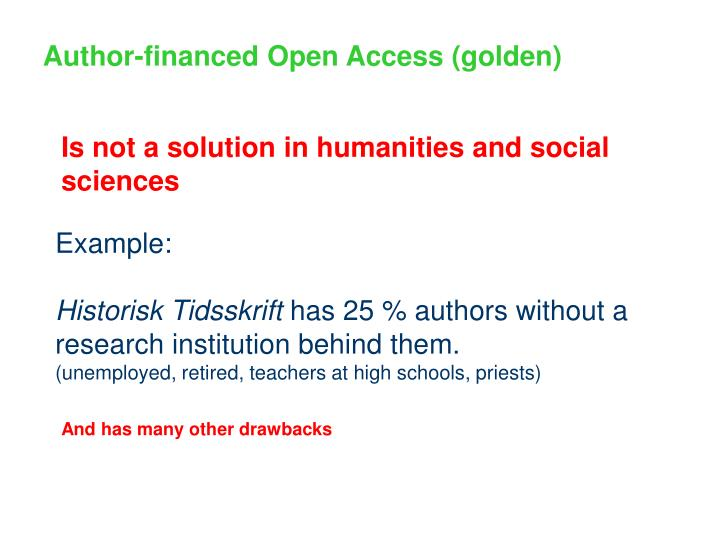 Author-financed Open Access (golden)
