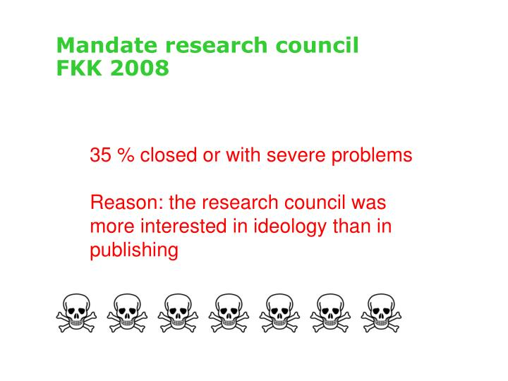 Mandate research council