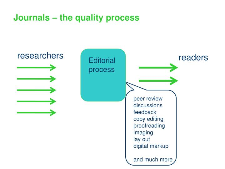 Journals – the quality process