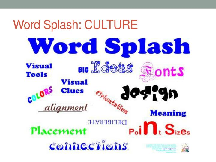 Word Splash: CULTURE