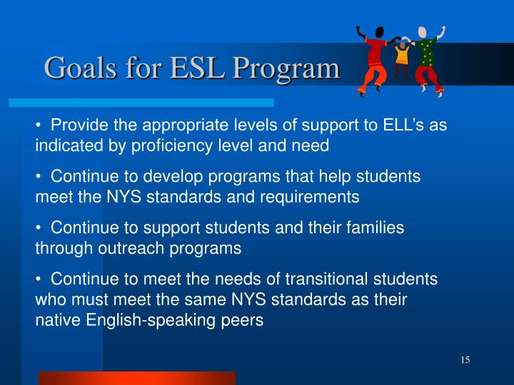 Goals for ESL Program