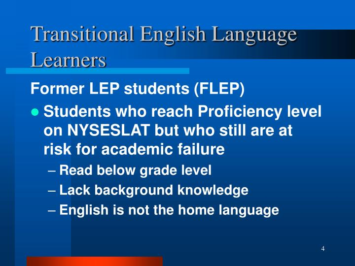 Transitional English Language Learners