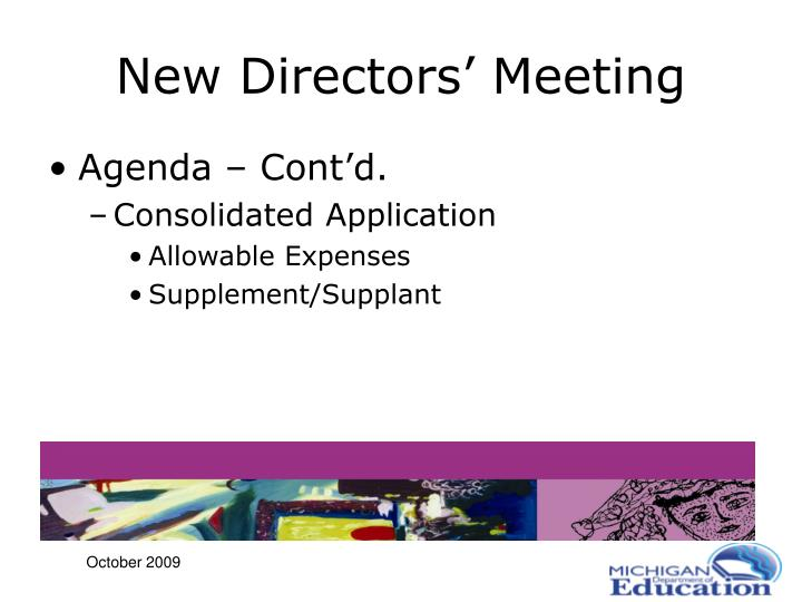 New Directors' Meeting