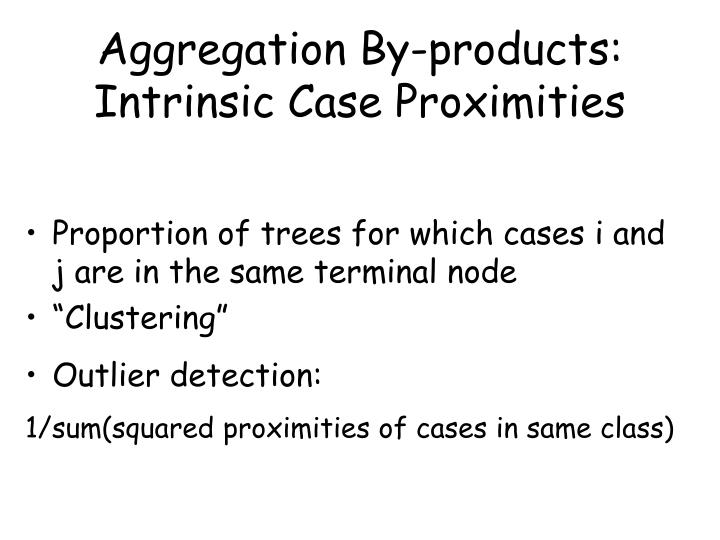 Aggregation By-products:  Intrinsic Case Proximities