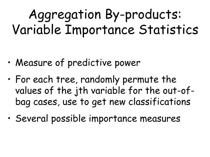 Aggregation By-products:  Variable Importance Statistics