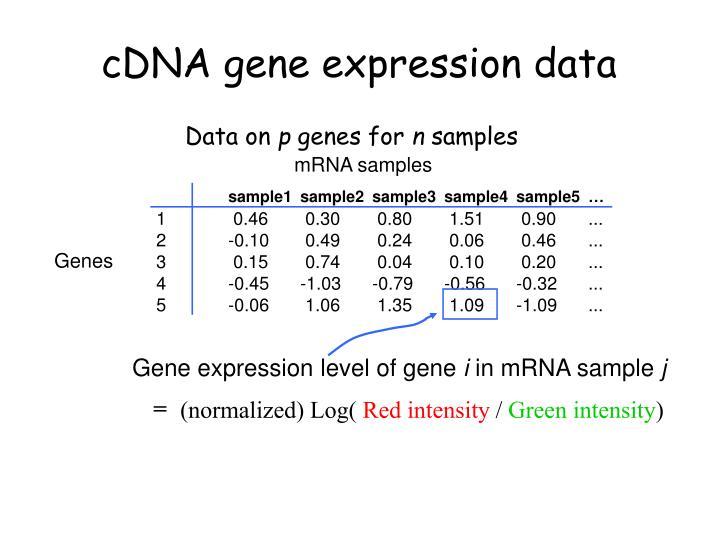 cDNA gene expression data