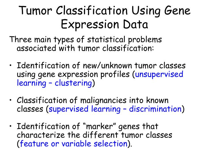 Tumor Classification Using Gene Expression Data
