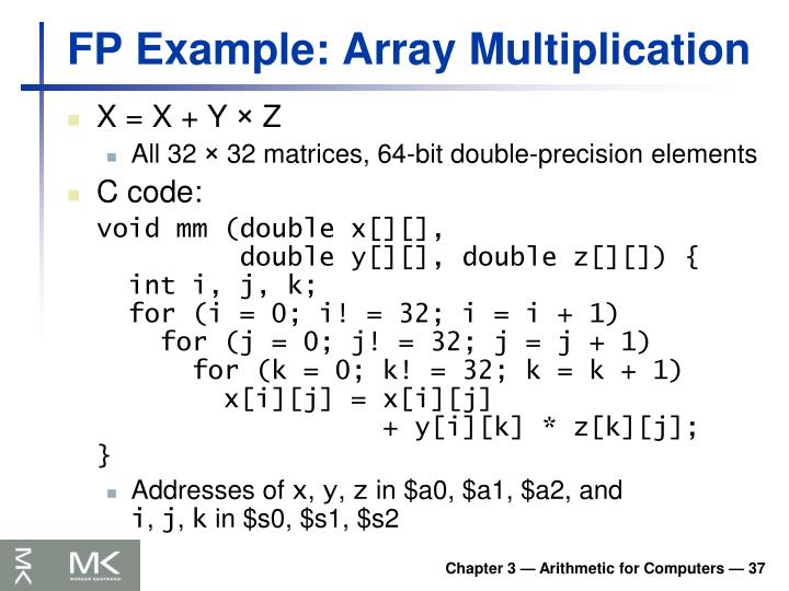 FP Example: Array Multiplication