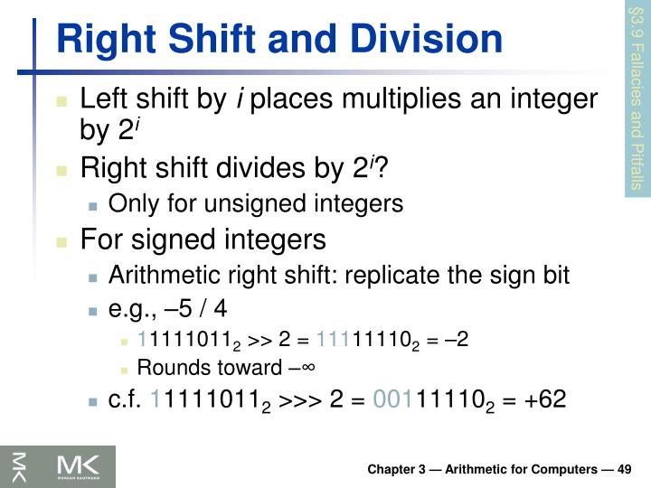 Right Shift and Division
